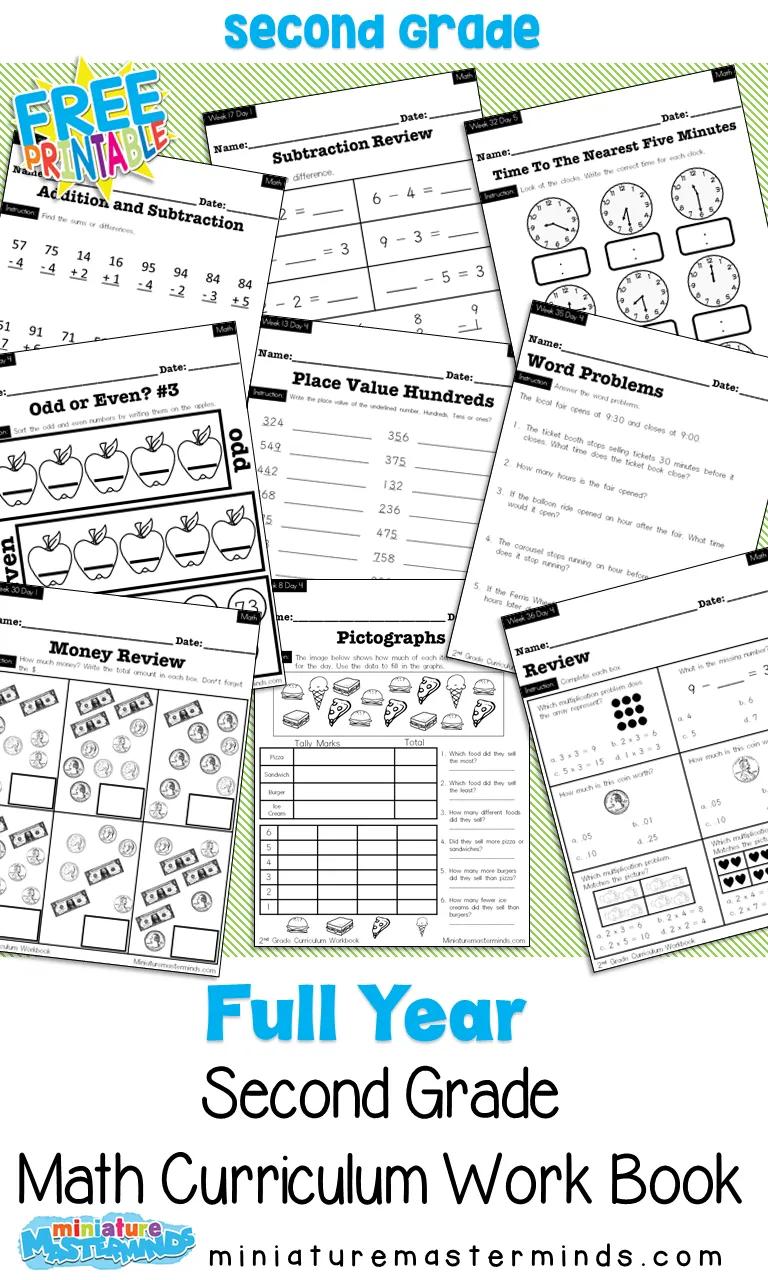 Photo of No Prep Second Grade Math Curriculum Full Year