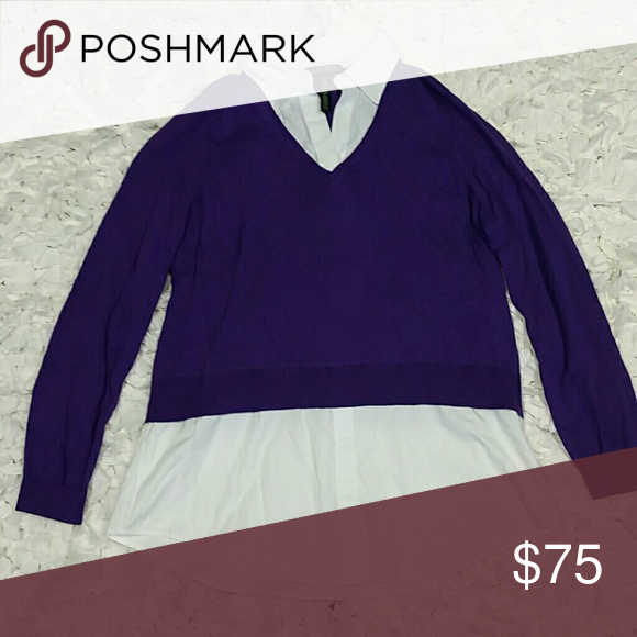 Ralph Lauren Sweater With Built In Shirt Nwt My Posh Picks
