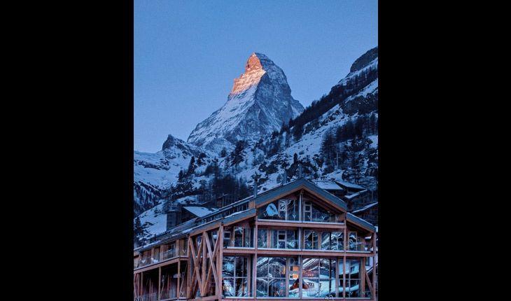 backstage hotel, zermatt switzerland / the hotel was designed by heinz julen