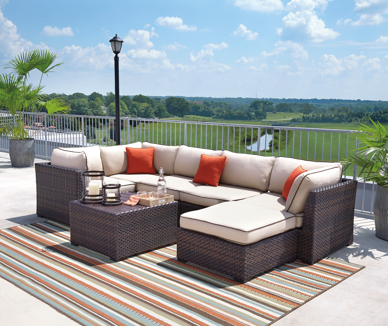 Renway Modular Outdoor Sectional Set Outdoor Seat Cushions