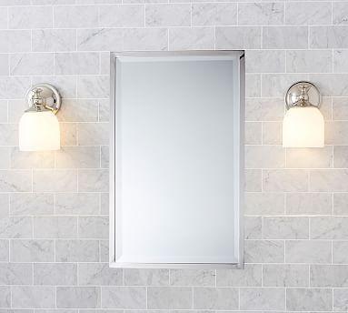XL Kensington Recessed Medicine Cabinet, Overall: Wide X High X Deep Mirror  Only: Wide X High Interior: Wide X High X Deep Wall Cutout: Wide X High X  Deep ...