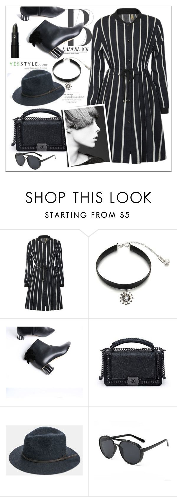 """Yesstyle #6 - Fashion"" by biange ❤ liked on Polyvore featuring Ticoo and Lipstick Queen"