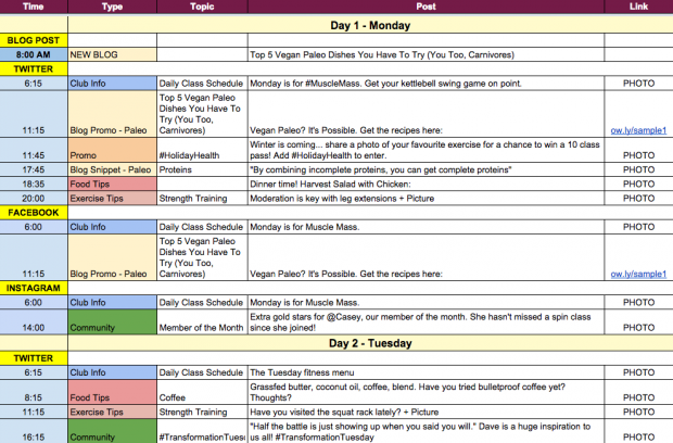 An example an editorial calendar for a social media marketing plan an example an editorial calendar for a social media marketing plan hootsuite comes through once again maxwellsz