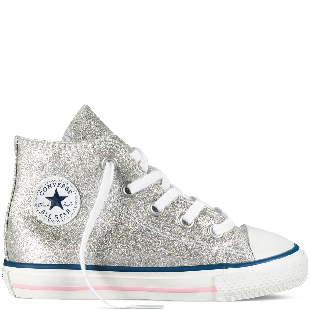 Converse Chuck Taylor All Star Glitter Side Zip Tdlr Yth