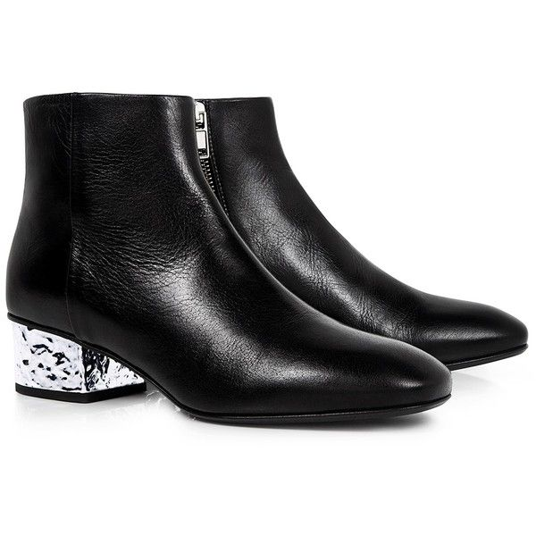 9bd9a0aad168 Mcq Alexander Mcqueen - Shacklewell Foil Heel Ankle Boots ( 580) ❤ liked on  Polyvore