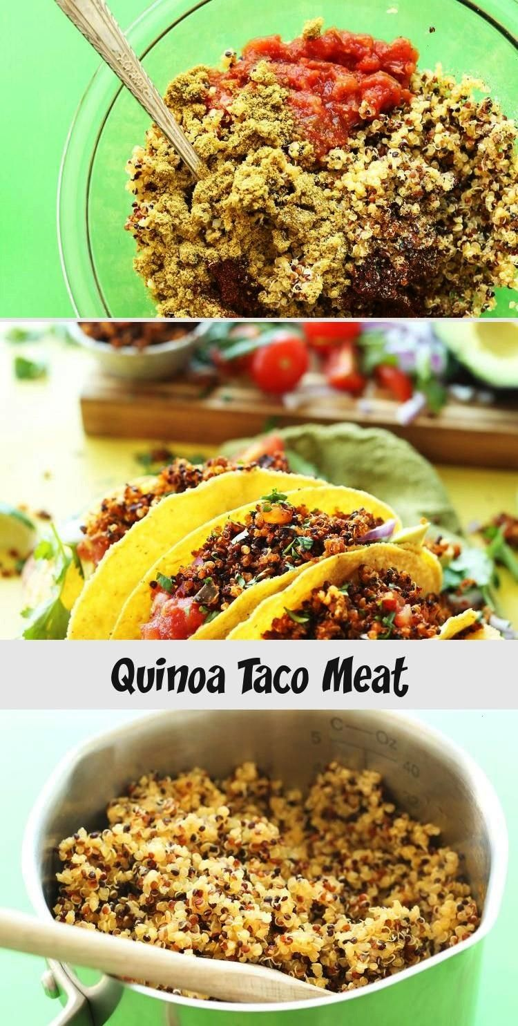 EASY Quinoa Taco %22Meat%22 that's crispy, flavorful, and protein-packed! 9 ingredients, SO EASY, h