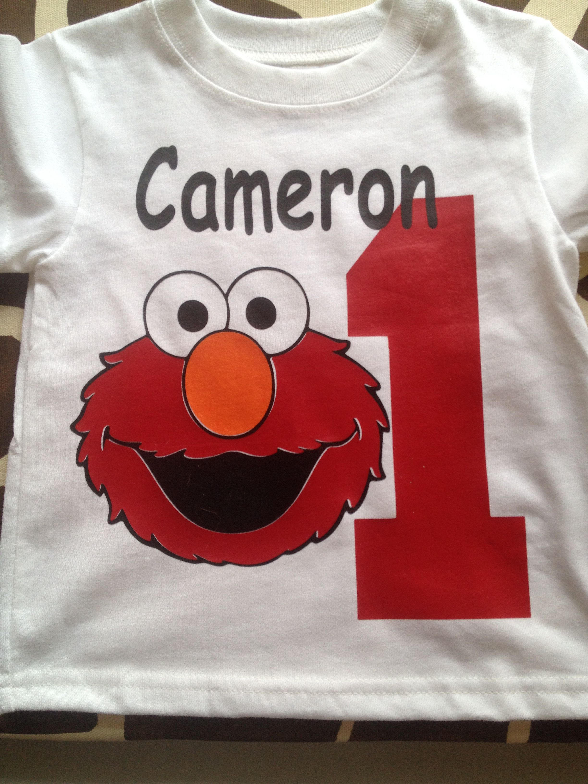 Heat Transfer Vinyl Custom Elmo Shirt First Birthday Shirts Old