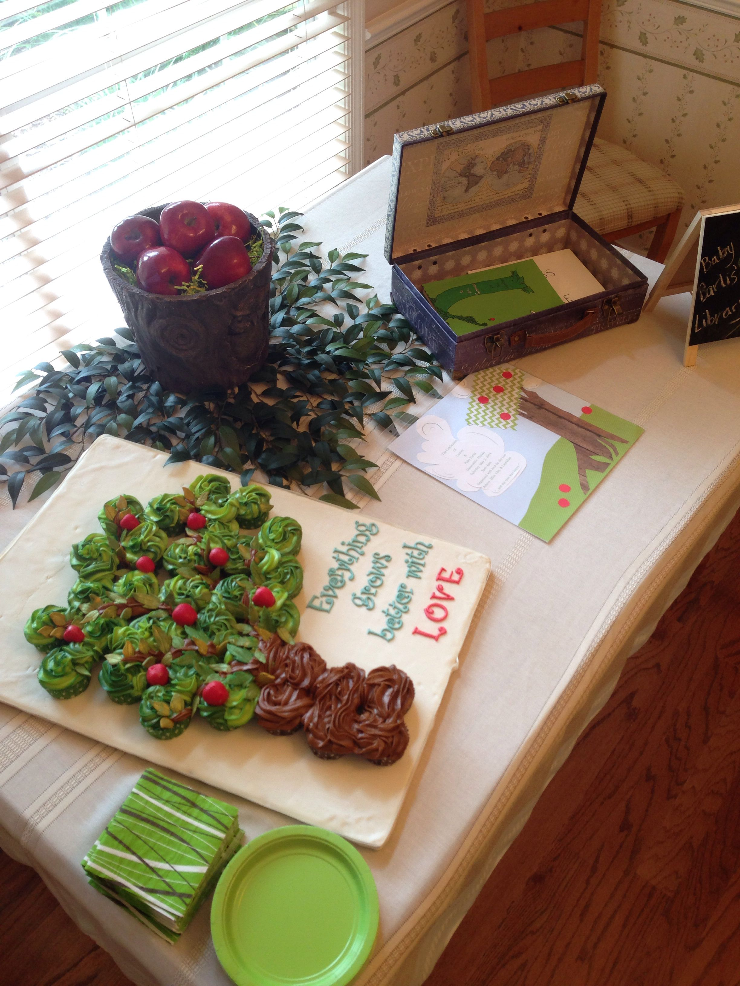 The Giving Tree Baby Shower Table Setting