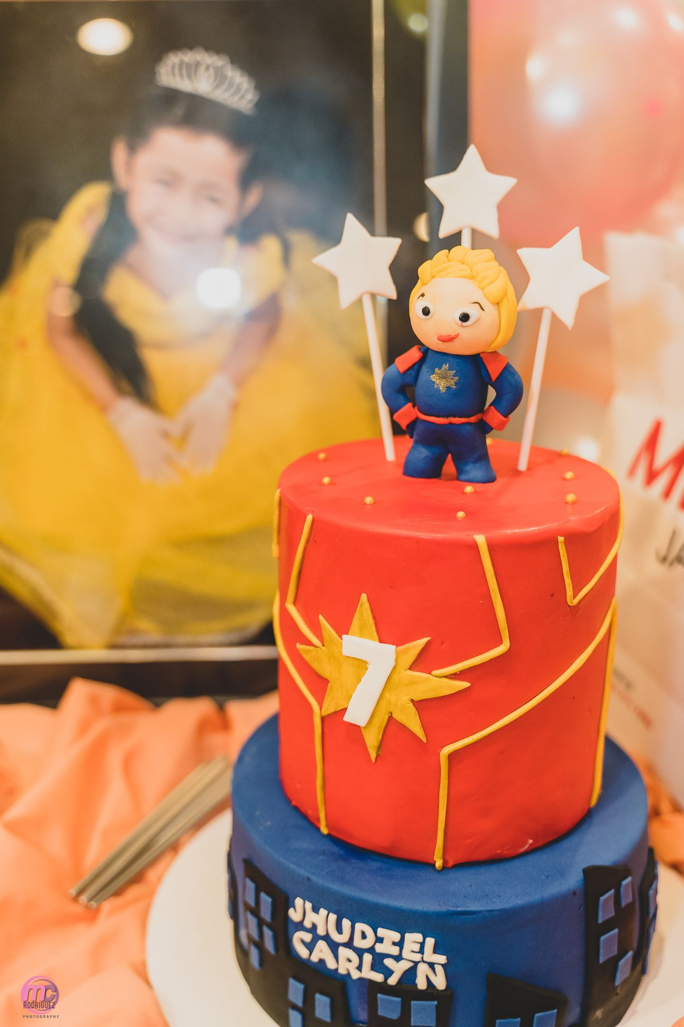 Captain Marvel Birthday Cake Marvel Birthday Cake Marvel