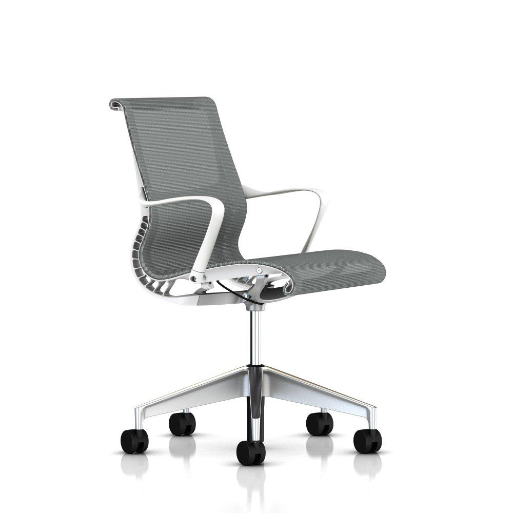 herman miller office chairs. For Sale Cheap Setu Office Chair By Herman Miller - With Arms Studio White Frame Base Standard Carpet Casters Graphite Lyris Order Chairs D