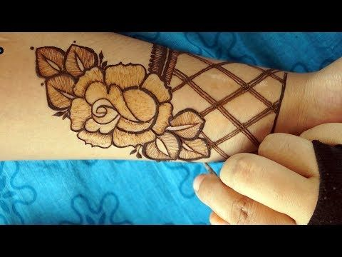 Most Attractive Modern Rose Henna Mehendi Design Step By Step Way Youtube Rose Mehndi Designs Mehndi Designs New Mehndi Designs