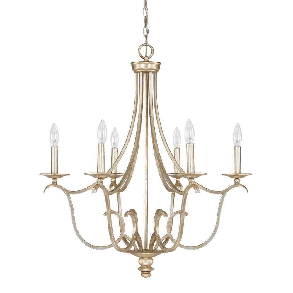 Capital lighting 4726wg 000 bailey 6 light chandelier winter gold capital lighting 4726wg 000 bailey 6 light chandelier winter gold aloadofball Gallery