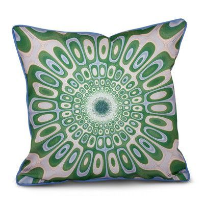 e by design Inside Out Designs Indoor/Outdoor Throw Pillow Size: