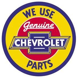 11.75 Diameter Desperate Enterprises Ford Trucks Round Tin Sign