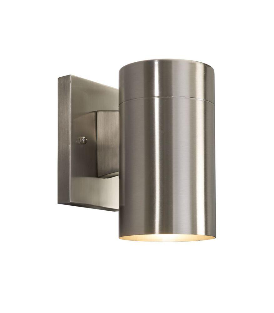 Morrilton 1 Light Brushed Nickel Outdoor Wall Lantern Exterior Light Fixtures Outdoor Sconces Modern Outdoor Wall Lighting