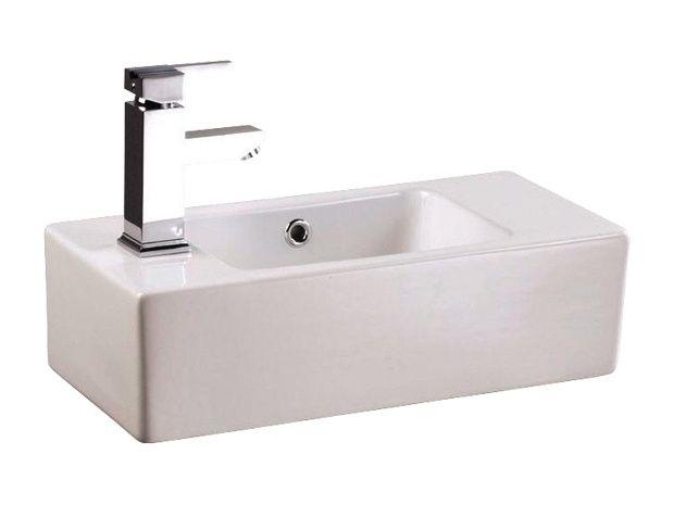 Aufsatz Waschtisch Jaspis 26 X 53 Cm Weiss Wand Aufsatzmontage Waschtisch Waschbecken Bauhaus