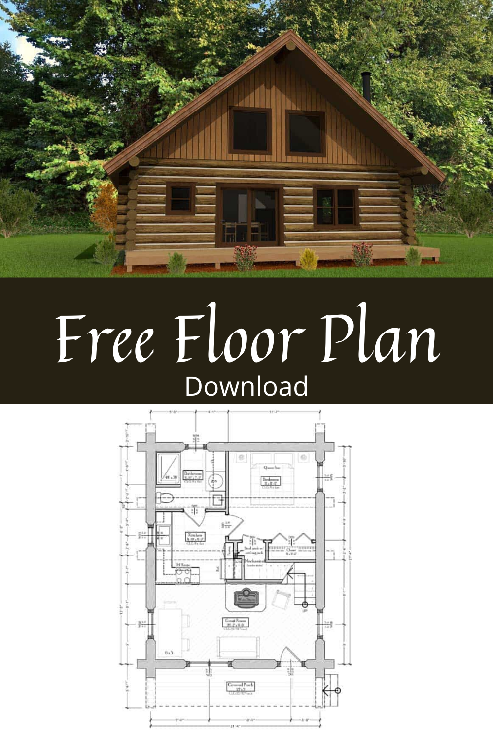 Best Log Cabin Floor Plan For Small Budgets In 2020 Log Cabin Floor Plans Cabin House Plans Log Home Designs