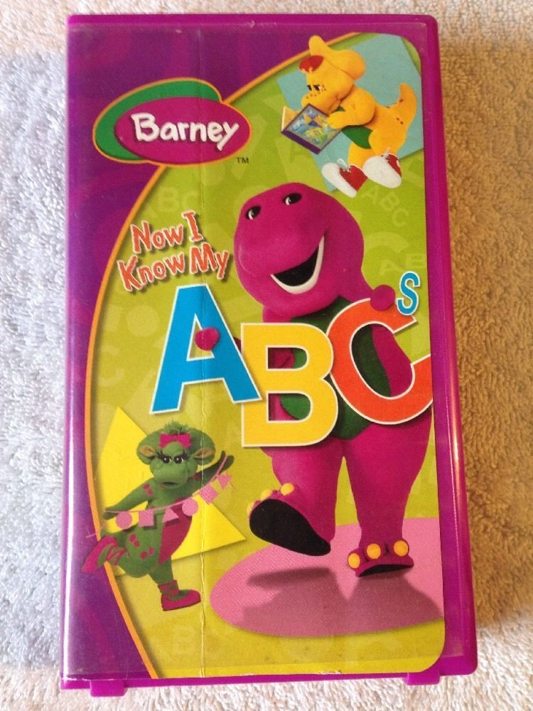 Barney Now I Know My Abcs 2004 Vhs Childrens Alphabet Songs