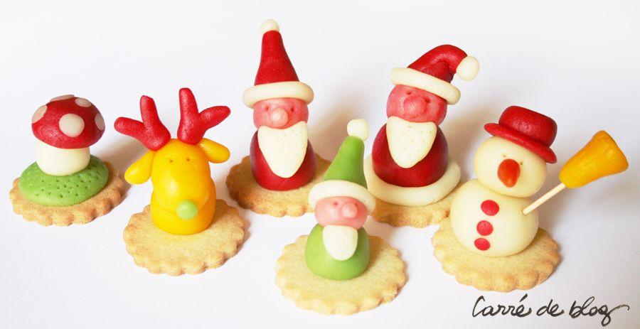 Personnages En Pate D Amande Noel Activites Pinterest Amande