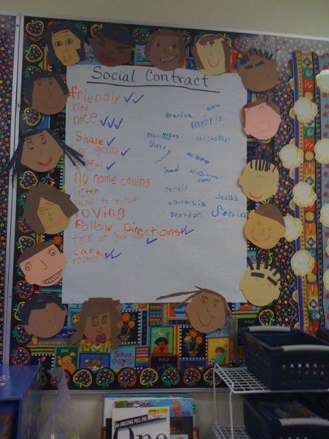Bishop's Blackboard: An Elementary Education Blog: Capturing Kids' Hearts Social Contract