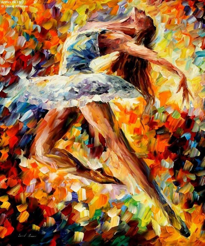 Leonid Afremov I Have This In My Living Room Art Painting Art Dancer Wall Art