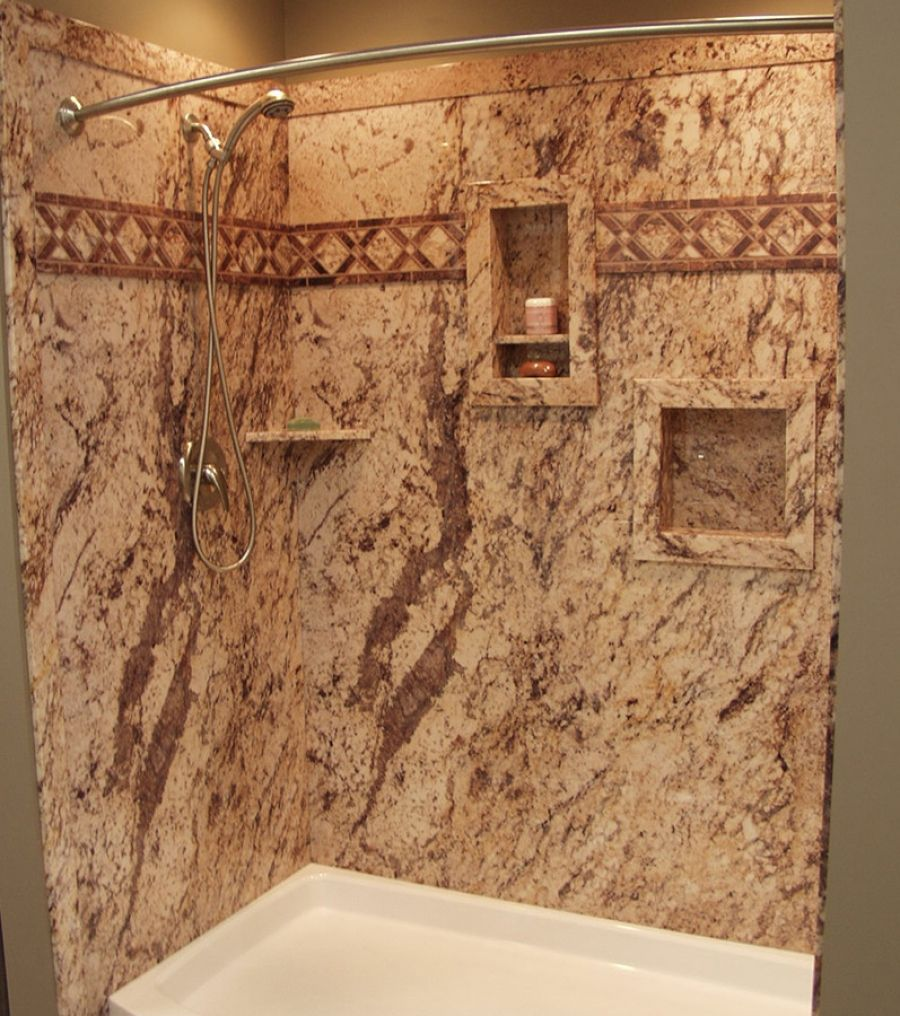 Decorative Stone Marble Or Granite Pattern Tub Shower Wall Panels Innovate Building Solutions