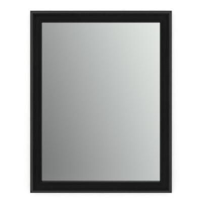 Delta 28 In X 36 In M1 Rectangular Framed Mirror With Standard Glass And Easy Cleat Flush Mount Hardware In Matte Black Fmirm1 Bsh R Black Mirror Frame Mirror Contemporary Wall Mirrors