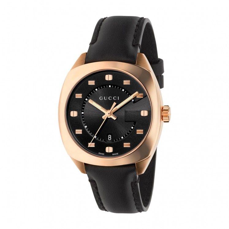 1b25e5f922f Gucci GG2570 G-Frame Ladies  Black Leather Strap Watch in 2019