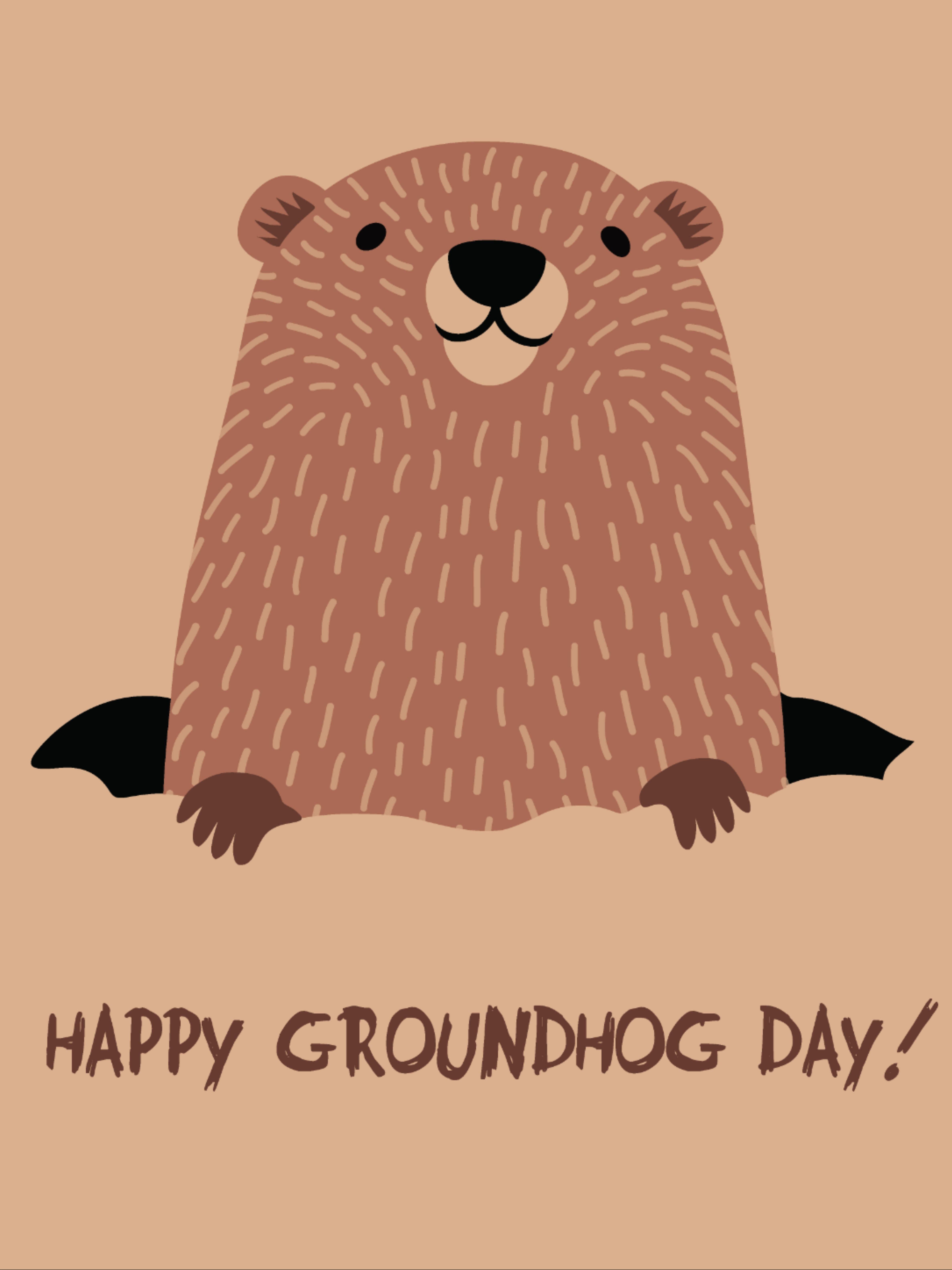 Happy Groundhog Day In 2021 Groundhog Day Happy Groundhog Day Groundhog