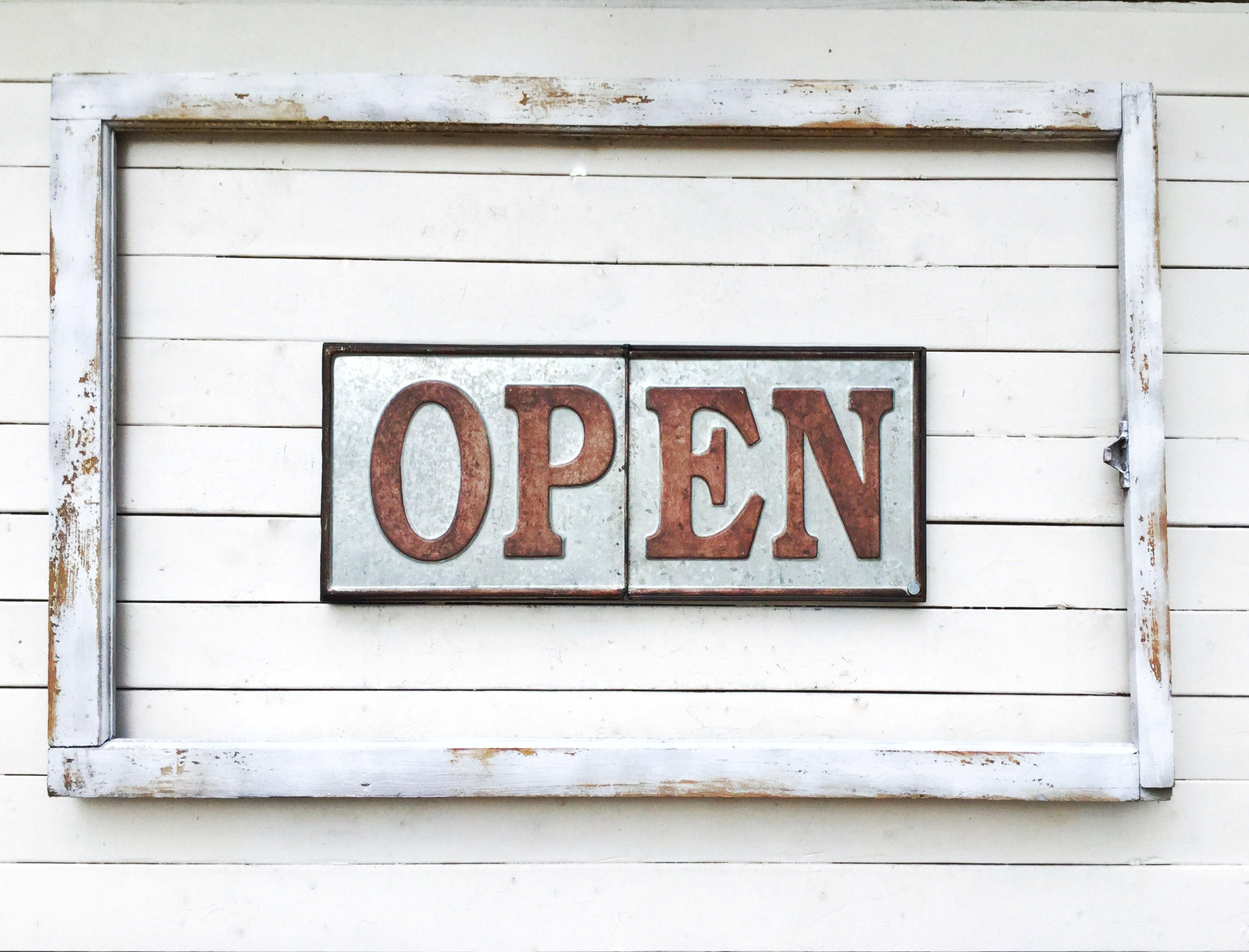 Open Closed Metal Signage for Shop-Distressed Metal-Coffee Shop ...