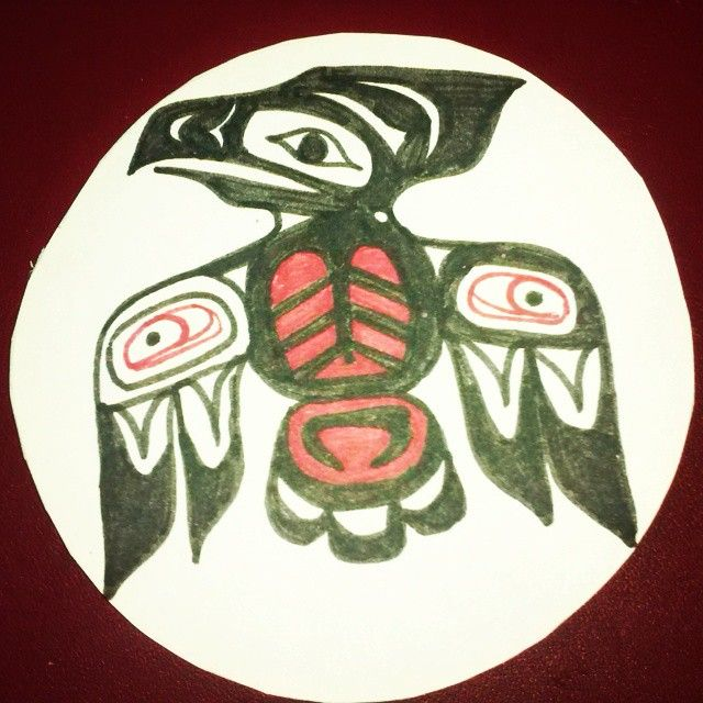 This is the fourth of my #squamish animals' symbology. The #eagle is the ruler of the sky and has the ability to transform itself. It symbolizes #grace, #power and has great #intelectual abilities. The eagle has longer been a source of artistic inspiration for traditional and contemporary Native art