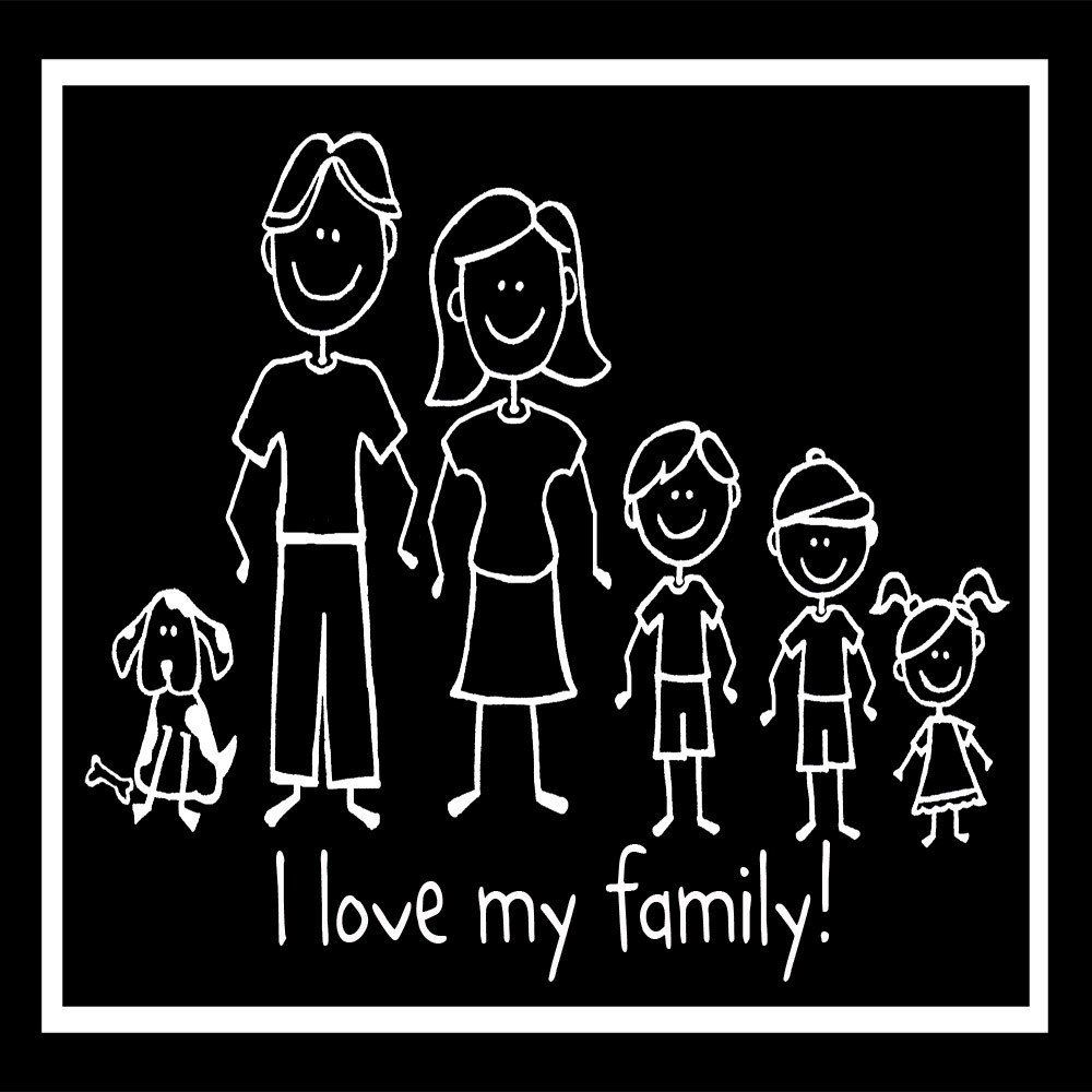 The Indian Family Sticker-Family Stickers India-Car Family