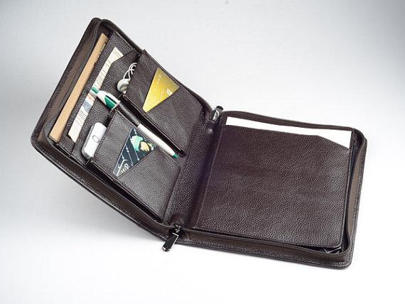 Apple iPad Leather Portfolio Case with Divider Cover