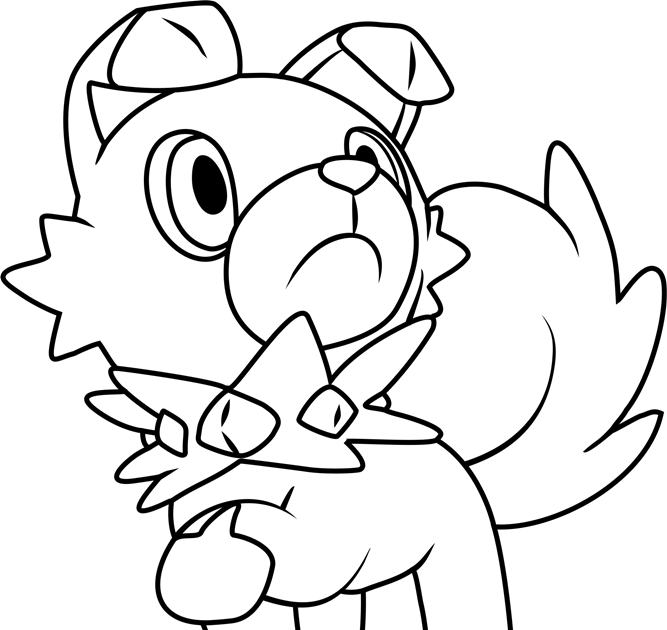 Rockruff Pokemon Sun And Moon Coloring Page Free Pokemon Sun And Rockruff Coloring Page By Bellatrixie White Pokemon Coloring Drawing Rockruff Of The Pokemo Di 2020