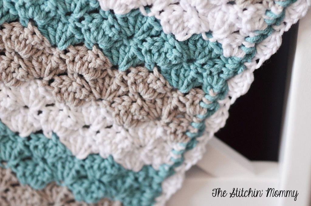 Shell Stitch Baby Blanket Free Pattern Pinterest Crochet Shell