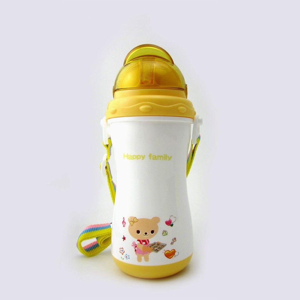 Baby S Water Bottle 300ml Cute Cartoon Bear Printed Portable Water Bottle Yellow 4u87988315 Portable Water Bottle Bear Print Bear Cartoon