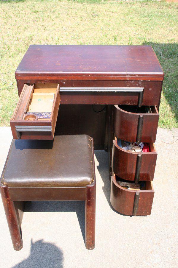 An Art Deco Cabinet For My Singer 15 91 Art Deco Cabinet Art