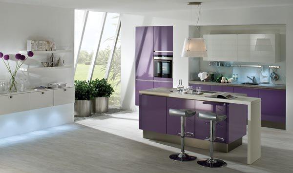 High Gloss Violet Kitchen Kitchens Pinterest Kitchen Kitchen