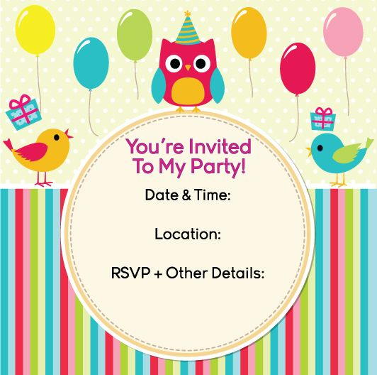 free kids party invite from party planner sydney www, Party invitations