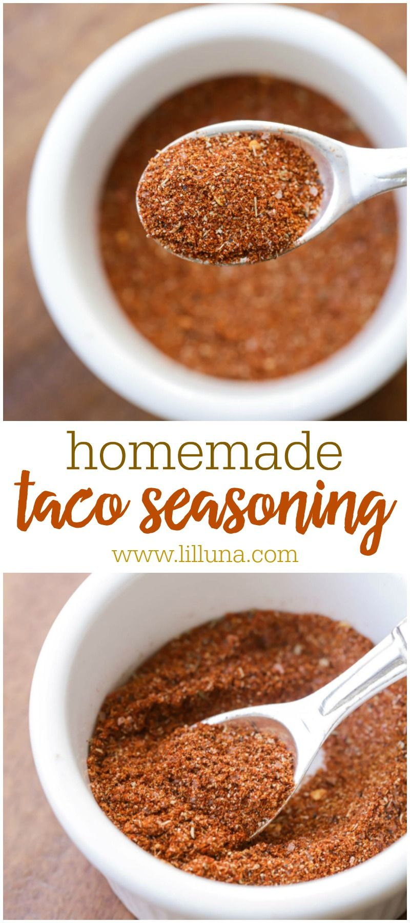 Easy Homemade Taco Seasoning recipe | Lil' Luna