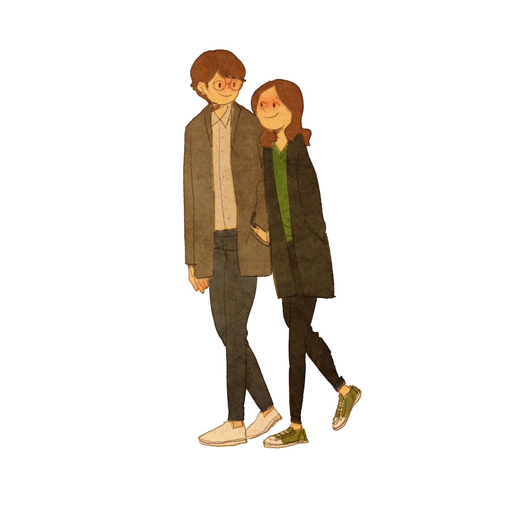 ♥ SHOULDER TO LEAN ON ~ You always support me, especially when I need a  shoulder to lean on. ♥ by Puuung… | Love cartoon couple, Love illustration,  Puuung love is