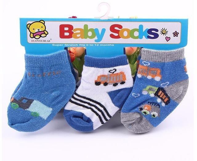 Disney Mickey Toddler Baby Boys Cotton Socks Infant Kids Soft Socks 0-24M 6Pk
