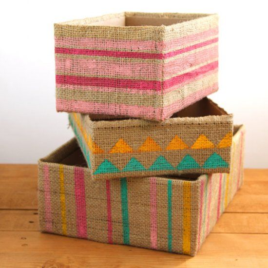 3 Ways To Make Beautiful Instant Storage Boxes From Up Cycled Cardboard  Boxes. Perfect