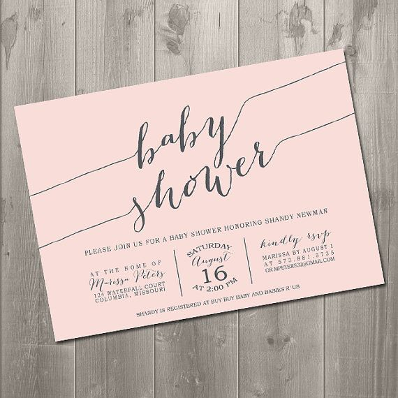 Modern script handwriting baby shower invitation diy printable modern script handwriting baby shower invitation diy printable invitation 1500 stopboris Image collections