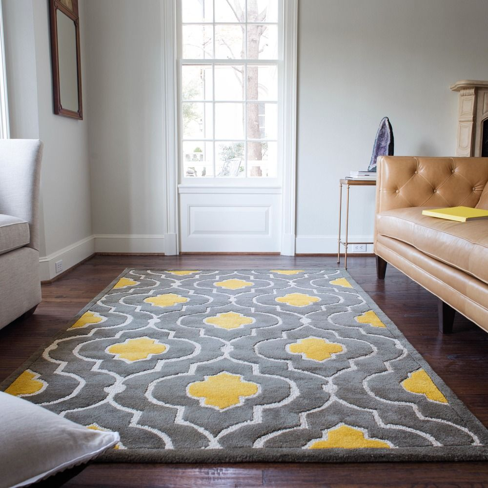 Hand Tufted Logan Grey Gold Wool Rug 5 0 X 7 6 Ping Great Deals On Alexander Home 5x8 6x9 Rugs
