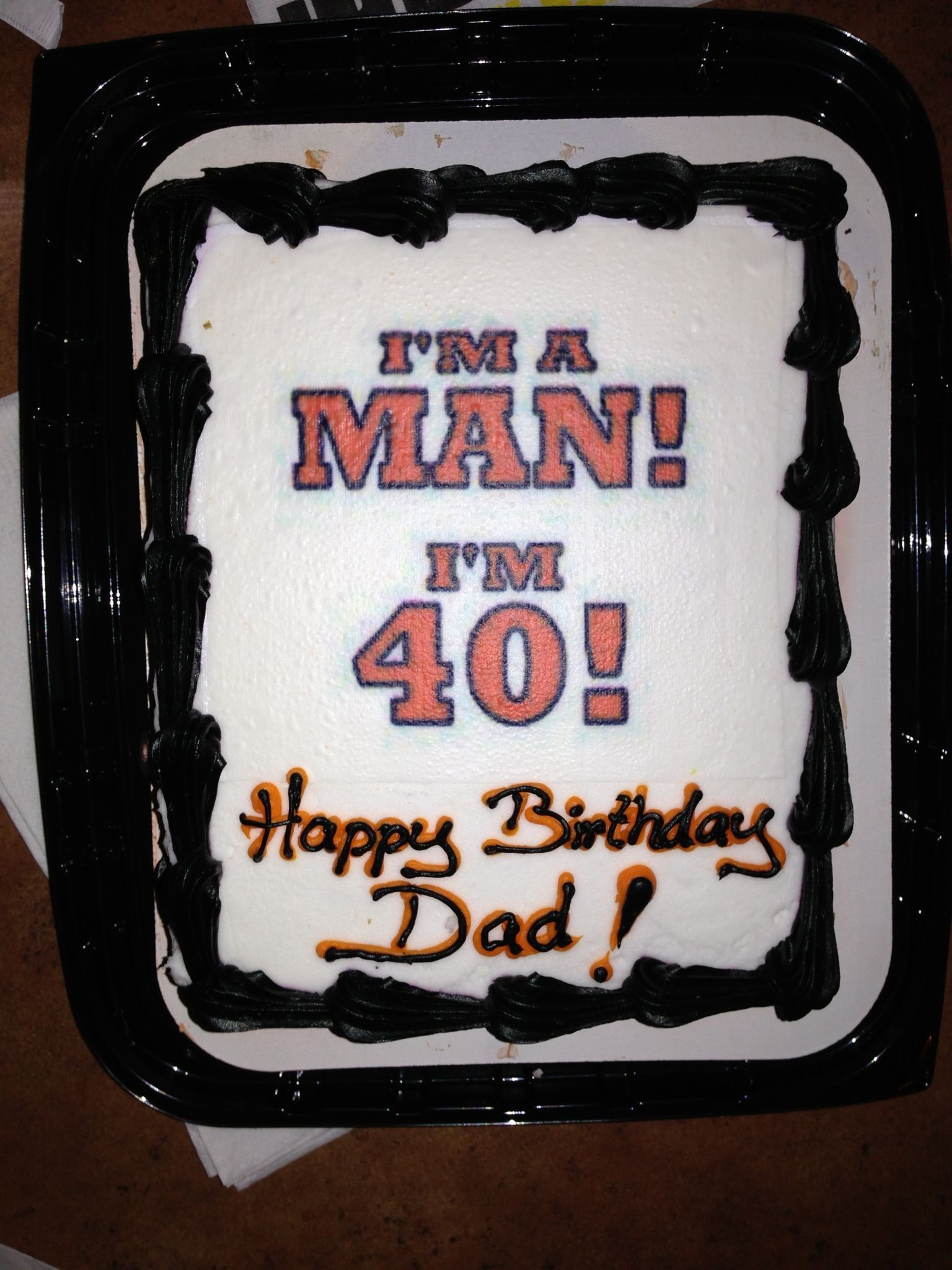 Husband Birthday Cake Pics : 40th birthday cake for my husband! For the Home ...