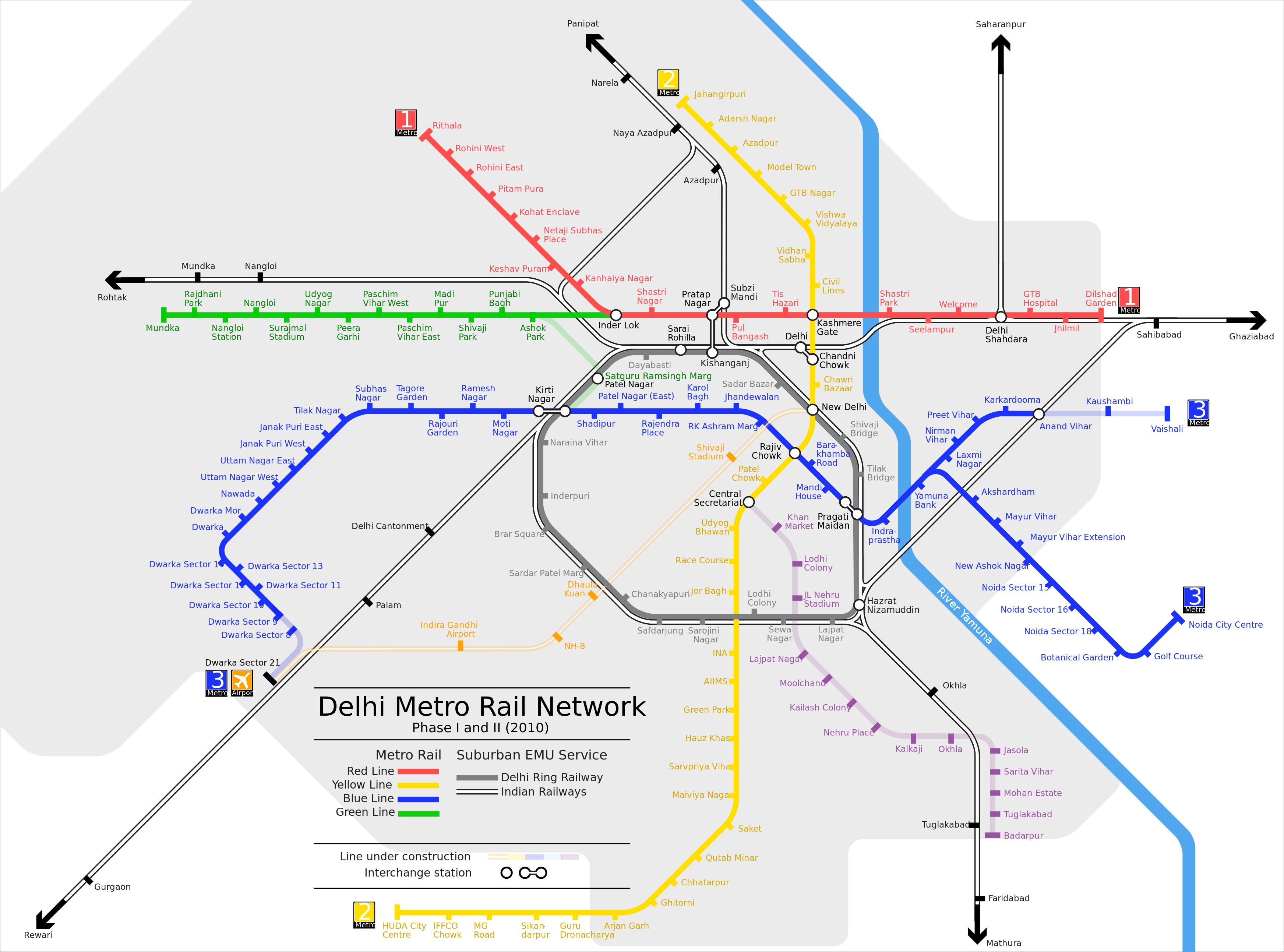 Embora O Metro Delhi Não Seja O Primeiro Construído Na Índia - Sweden tunnelbana map