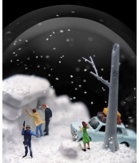 American spanish artist couple walter martin and paloma muoz create american spanish artist couple walter martin and paloma muoz create tiny dramas in snow globe gumiabroncs Choice Image