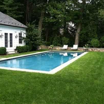 grass surround backyard pool