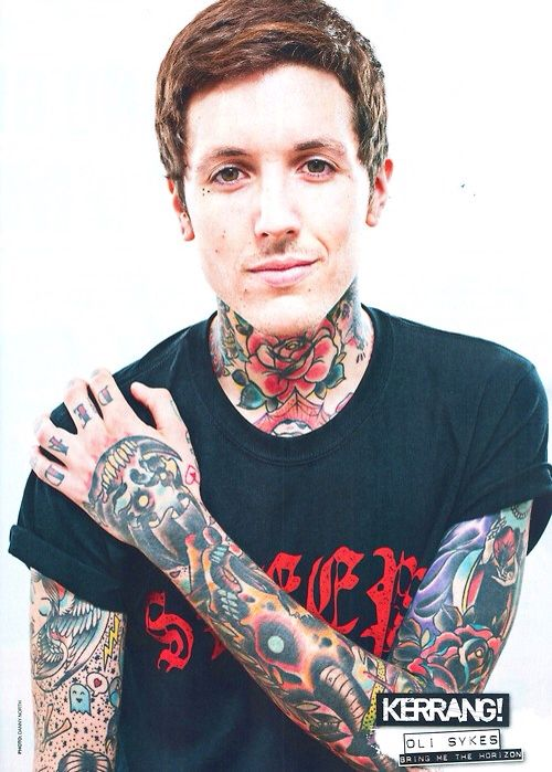 Oli S Tattoos Are Amazing Olisykes Bmth Tattoos Bring Me The Horizon Oliver Sykes Oli Sykes